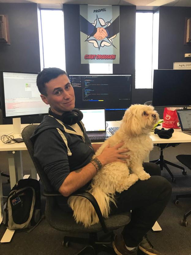 Team Member With Pet